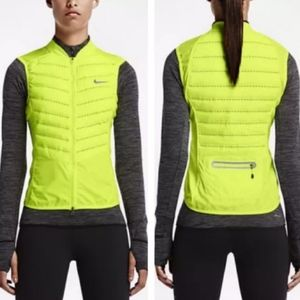 Nike Aeroloft 800 Down Yellow Running Vest